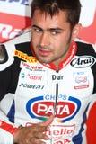 Leon Haslam -91 na Honda CBR1000RR z Pata Honda Superbike drużyny Światowym Superbike WSBK Zdjęcie Royalty Free