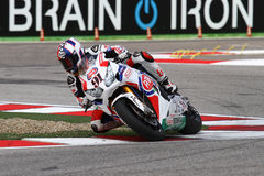 Leon Haslam #91 su Honda CBR1000RR con il Superbike WSBK di Pata Honda World Superbike Team Fotografie Stock