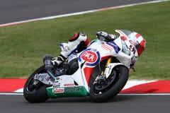 Leon Haslam #91 su Honda CBR1000RR con il Superbike WSBK di Pata Honda World Superbike Team Fotografia Stock
