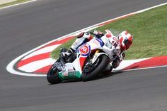 Leon Haslam #91 su Honda CBR1000RR con il Superbike WSBK di Pata Honda World Superbike Team Immagini Stock