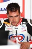 Leon Haslam #91 su Honda CBR1000RR con il Superbike WSBK di Pata Honda World Superbike Team Fotografia Stock Libera da Diritti