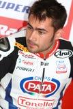 Leon Haslam #91 su Honda CBR1000RR con il Superbike WSBK di Pata Honda World Superbike Team Immagini Stock Libere da Diritti