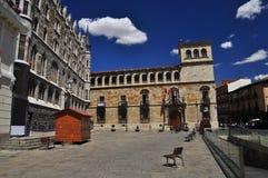 Leon, Hiszpania, główny plac fotografia royalty free
