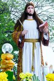 View of a religious statue at a Good Friday procession royalty free stock photo