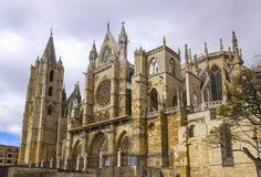 Leon Katedra Zdjęcie Stock