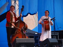 LEON KRZOS BAND IN CONCERT, LUBLIN, POLAND. The performance of the folk group Kapela Leona Krzosa from Krzczonow in Poland during the annual Jagiellonian Fair ( Stock Photography