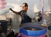 Leon, Mexico-January 13, 2017:Cotton Candy Maker Royalty Free Stock Photos