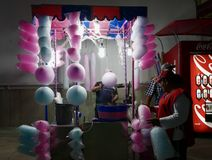 Leon, Mexico-January 13, 2017:Cotton Candy Maker Stock Photo
