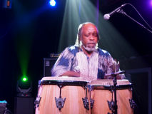 Leon Mobley playing drums on stage hands moving at a blur at Cro Stock Photography