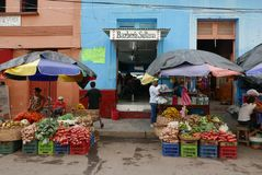 Leon, Nicaragua-December 18, 2017: A street market in Leon royalty free stock photo
