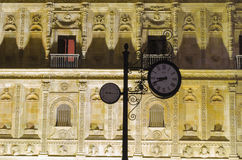 Leon by night. Night city landscape, Leon, Spain Royalty Free Stock Images