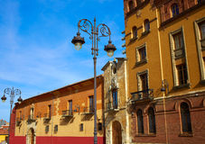 Leon Obispado facade in Plaza Regla square Spain Stock Image
