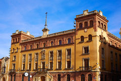 Leon Obispado facade in Plaza Regla square Spain Royalty Free Stock Images
