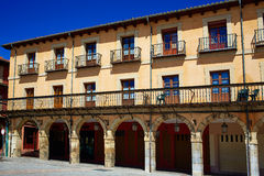 Leon Plaza Mayor in Way of Saint James Castilla Royalty Free Stock Photo