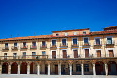 Leon Plaza Mayor in Way of Saint James Castilla Stock Images