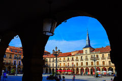 Leon Plaza Mayor in Way of Saint James Castilla Royalty Free Stock Image