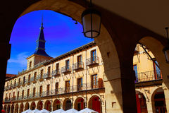 Leon Plaza Mayor in Way of Saint James Castilla Royalty Free Stock Images