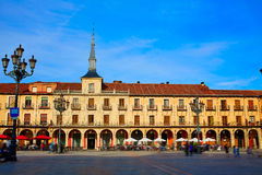 Leon Plaza Mayor in Way of Saint James Castilla Stock Photo