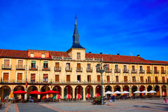 Leon Plaza Mayor in Way of Saint James Castilla Royalty Free Stock Photography