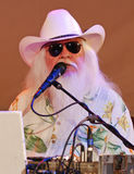 Leon Russell - head-on celebrity shot Rock & Roll! Royalty Free Stock Photo