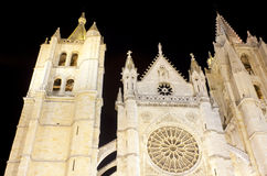Leon's cathedral Stock Photos