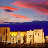 Leon San Isidoro church way of saint James Royalty Free Stock Photos