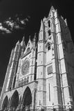 Leon Spain: cathedral exterior Stock Images