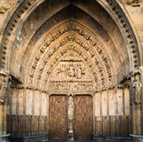 Leon, Spain. Door of the Cathedral Leon, Spain stock photo