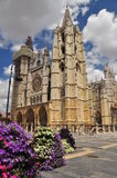Leon, Spain. Gothic cathedral royalty free stock photos