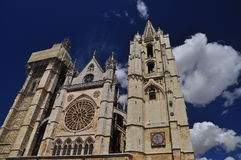 Leon, Spain. Gothic cathedral royalty free stock images