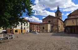 Leon, Spain, placa del Grano Stock Images