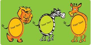 Leon, zèbre, giraffe Photo libre de droits