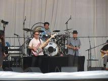 Leonard Cohen-Band, das in Lucca, am 9. Juli 2013 reharsing ist Lizenzfreies Stockfoto