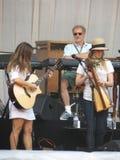 Leonard Cohen-band het reharsing in Luca, 9 Juli 2013 Stock Foto