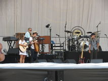 Leonard Cohen-band (Luca 2013) Stock Afbeelding