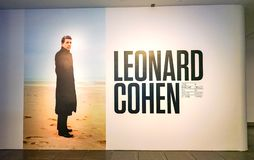 Homage to Leonard Cohen at MAC Museum Royalty Free Stock Photography
