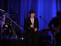 Leonard Cohen - Florence 2010 Stock Foto's