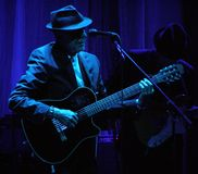 Leonard Cohen - Florenz 2010 Stockfotografie