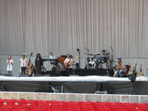 Leonard Cohen habitent à Lucques, le 9 juillet 2013 Photos stock