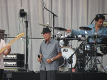 Leonard Cohen levend in Luca, 9 Juli 2013 Stock Afbeelding