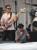 Leonard Cohen levend in Luca, 9 Juli 2013 Stock Fotografie