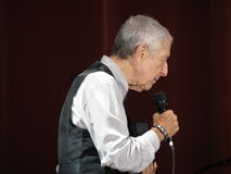 Leonard Cohen levend in Luca, 9 Juli 2013 Stock Afbeeldingen