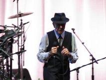 Leonard Cohen levend in Luca, 9 Juli 2013 Stock Foto