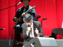 Leonard Cohen (Lucca 2013) Arkivbilder