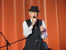 Leonard Cohen (Lucca 2013) Arkivbild