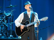 Leonard Cohen (Lucca 2013) Royaltyfria Foton