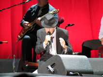 Leonard Cohen (live in Lucca 2013) Royalty Free Stock Photo