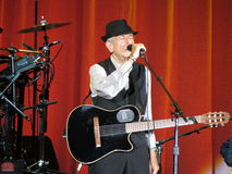 Leonard Cohen (Lucques 2013) Photographie stock