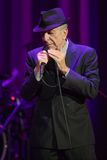 Leonard Cohen performs on stage at Sportarena Stock Photo