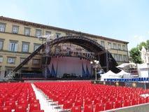 Leonard Cohen-stadium in Luca, 9 Juli 2013 Stock Foto
